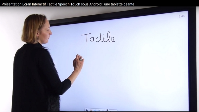 ecran interactif speechi touch